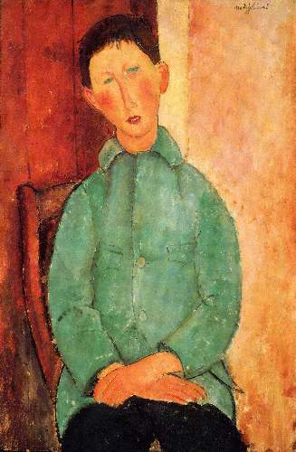 Modigliani - Boy in a blue jacket [2]